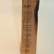 Holz mit Gedicht