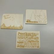 Postkarten aus Sperrholz gelasert